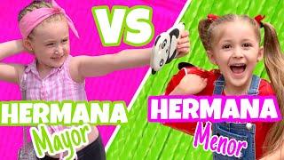 🌈 ¡¡HERMANA MAYOR VS HERMANA PEQUEÑA 🎀 en VACACIONES ¡¡ ASÍ NOS TRATA MAMÁ!!