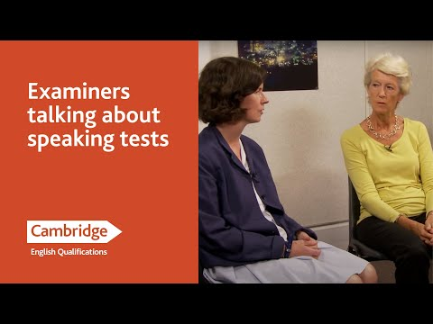 Examiners talking about Speaking Tests