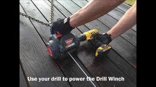 Loading a Car with the WARN Drill Winch