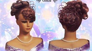 Видео урок Свадебная прическа для невесты wedding hairstyle for the bride Kapralova Olga