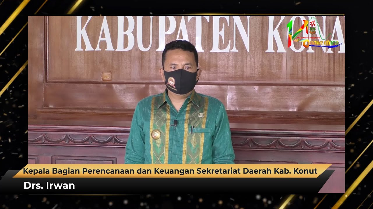 Ucapan HUT Ke-14 Kabupaten Konawe Utara Drs. Irwan