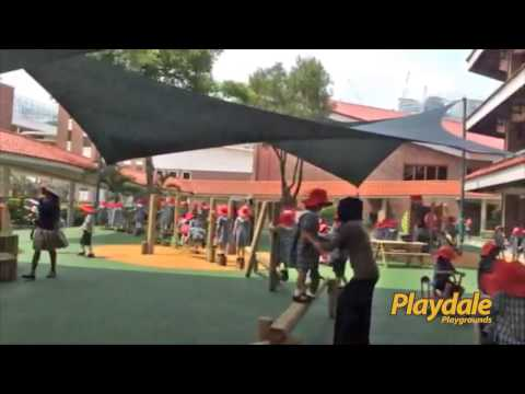 First Playdale Play Area Installed in Singapore - Tanglin School