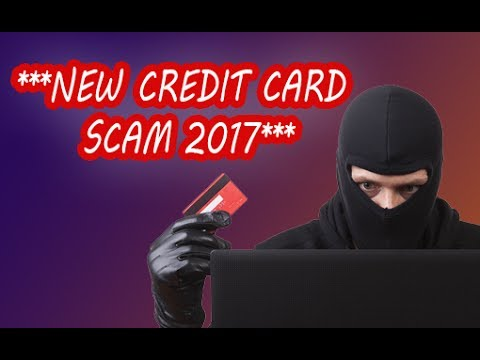 NEW CREDIT CARD SCAM 2017 - DON'T FALL FOR THIS! [SCARY!]