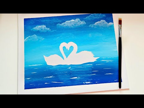 The Qween's of Lake Acrylic Painting on Canvas | Art and Hobby for relaxing