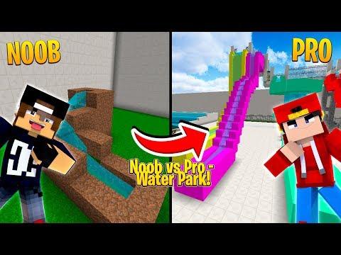minecraft-noob-vs-pro---water-park-challenge!!