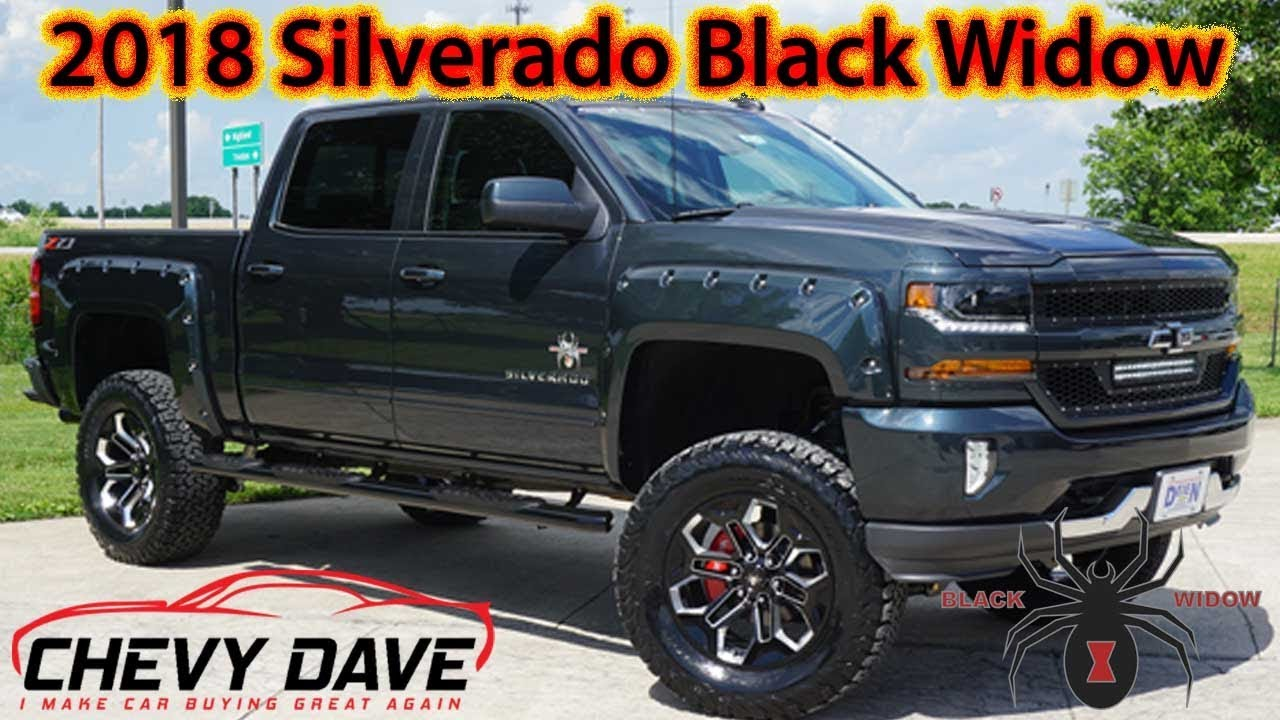 Brand New 2018 Chevy Silverado Black Widow Edition Review ...