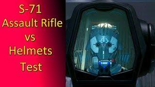 3.8.1 S-71 Assault Rifle vs helmets test