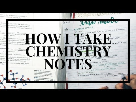 how i take chemistry notes from a textbook!!