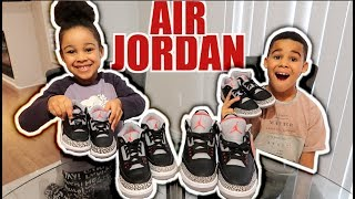 surprising my family with the new jordan 3s