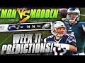 Predicting Every NFL Week 11 Winner...OH, BOY SH#T WENT DOWN!!! | Man vs Madden 2019