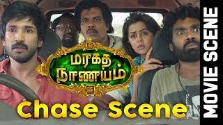 Maragadha Naanayam - Chase Scene   Aadhi   Nikki Galrani