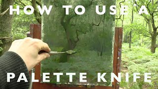 Oil Painting Tutorial - H๐w to Create Texture Using a Palette Knife