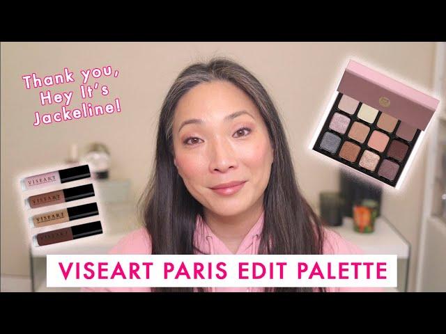 VISEART - Paris Edit Palette Review | Demo | Swatches - Collab w/ Hey It's Jackeline