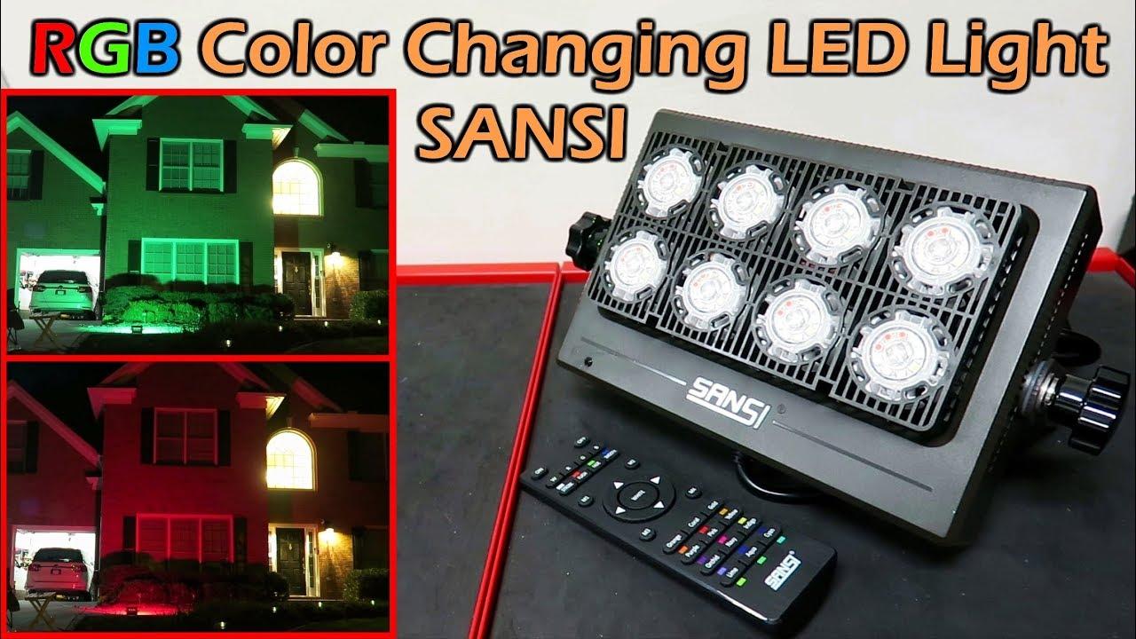 50w Rgb Color Changing Led Flood Light Sansi Youtube