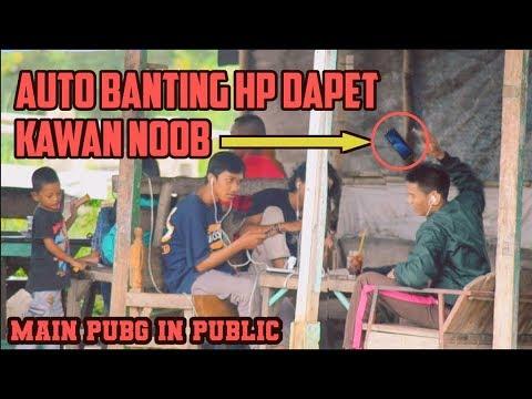 BANTING HP IN PUBLIC GARA GARA MAIN PUBG #part1