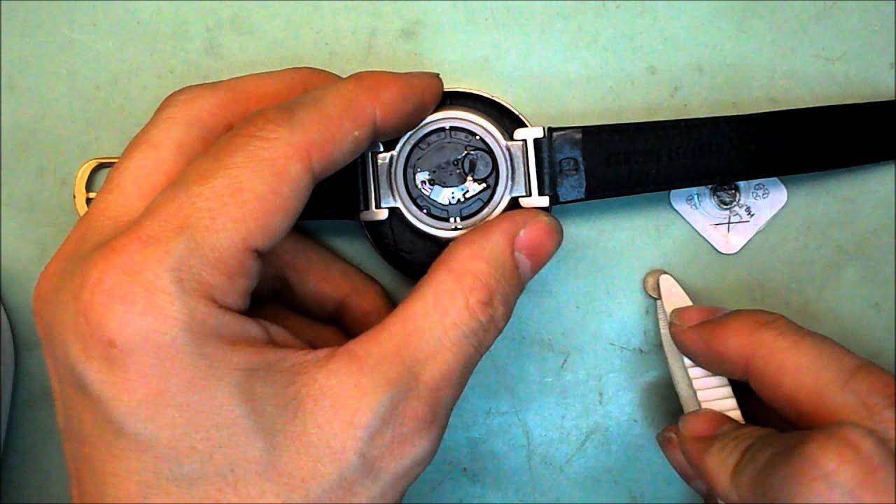 Como cambiar la pila de un reloj how to replace a watch - Como colocar paves ...