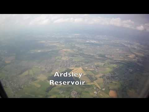 Aerial Views From Formby to Landing at Leeds Bradford Airport, England - 18th July, 2016