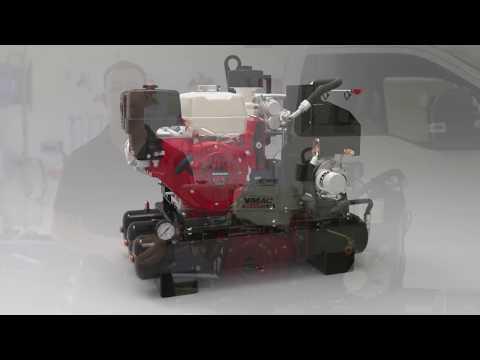 VMAC 30 CFM Gas Driven Air Compressor Demo Video