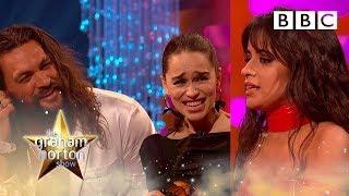 Download Camila Cabello hilarious fangirl moment over Emilia Clarke & Jason Momoa | Graham Norton Show - BBC Mp3 and Videos