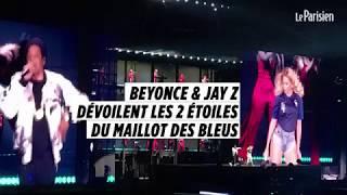 Beyonce et Jay-Z dévoilent le nouveau maillot des Bleus à l'occasion de leur concert à Paris