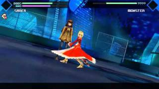 Fate/Extra Saber 第二巡 V.S 兩儀式 (第四次)