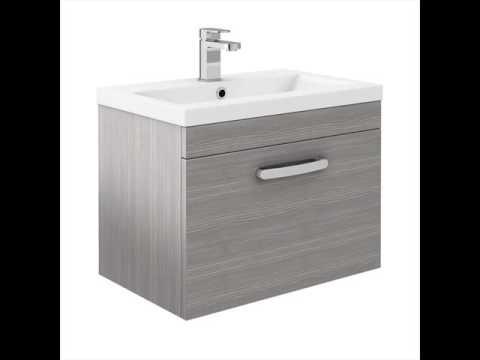 Vanity Unit Bathroom Grey grey vanity unit and basin for bathroom uk - youtube
