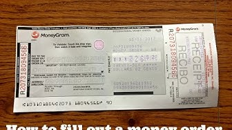 How to fill out a Walmart Money Order (Money Gram)