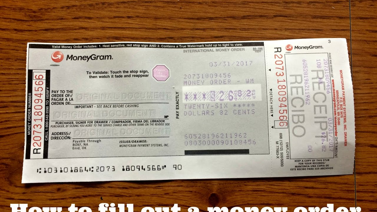 how to fill out a walmart money order money gram youtube