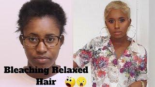Black Hair to Blonde Hair Tutorial | Relaxed Hair