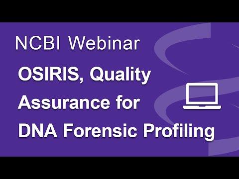 Webinar: OSIRIS, Quality Assurance for DNA Forensic Profiling