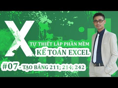 Tự thiết lập PHẦN MỀM KẾ TOÁN EXCEL – #07: Tạo bảng khấu hao, bảng CCDC