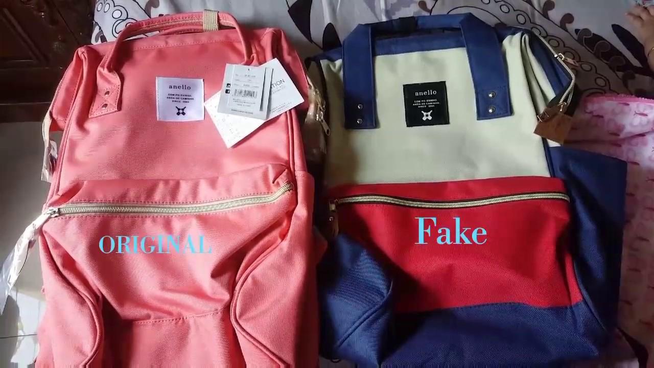 030958cecd ANELLO backpack Ori vs Fake - YouTube