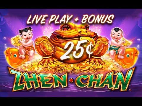25¢ ZHEN CHAN SLOT *NEW* LIVE PLAY + SLOT BONUS - Slot Machine Bonus