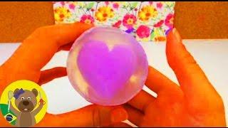 Sabonete de duas cores decorado com coração