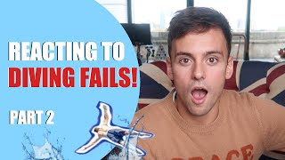 REACTING TO DIVING FAILS | @WaterSexMagic Edition I Tom Daley