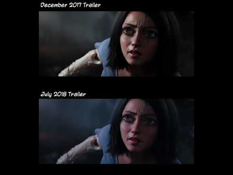 Alita: Battle Angel - Trailer Comparison