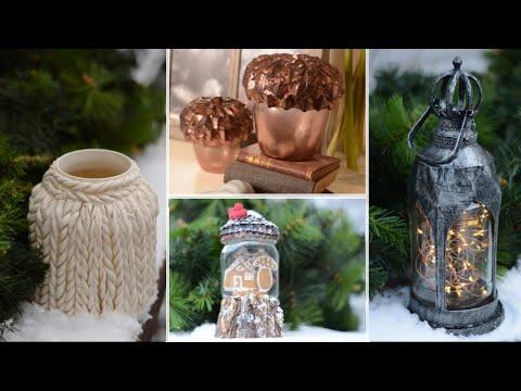 Trash to treasure/ Glass jar decor ideas for autumn and winter