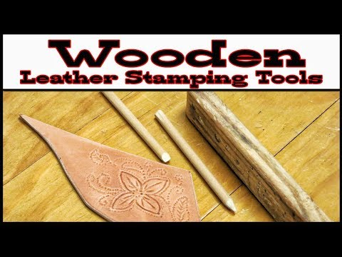 Wooden Leather Stamping Tools
