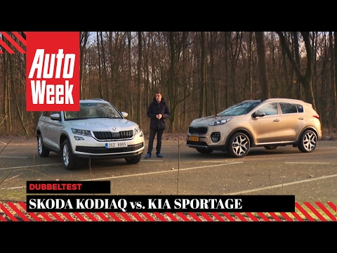 Skoda Kodiaq vs Kia Sportage - AutoWeek Dubbeltest