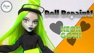 OOAK Neon Goth Doll  Custom Ghoulia Repaint
