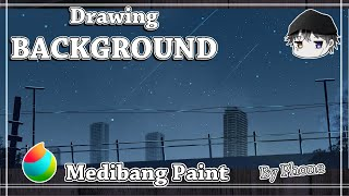 Making Anime Background Night City Part I : Medibang Paint Android YouTube