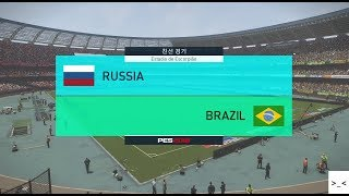 국가대표팀 친선경기 러시아 vs 브라질 매치 게임 경기 예측 하이라이트 영상