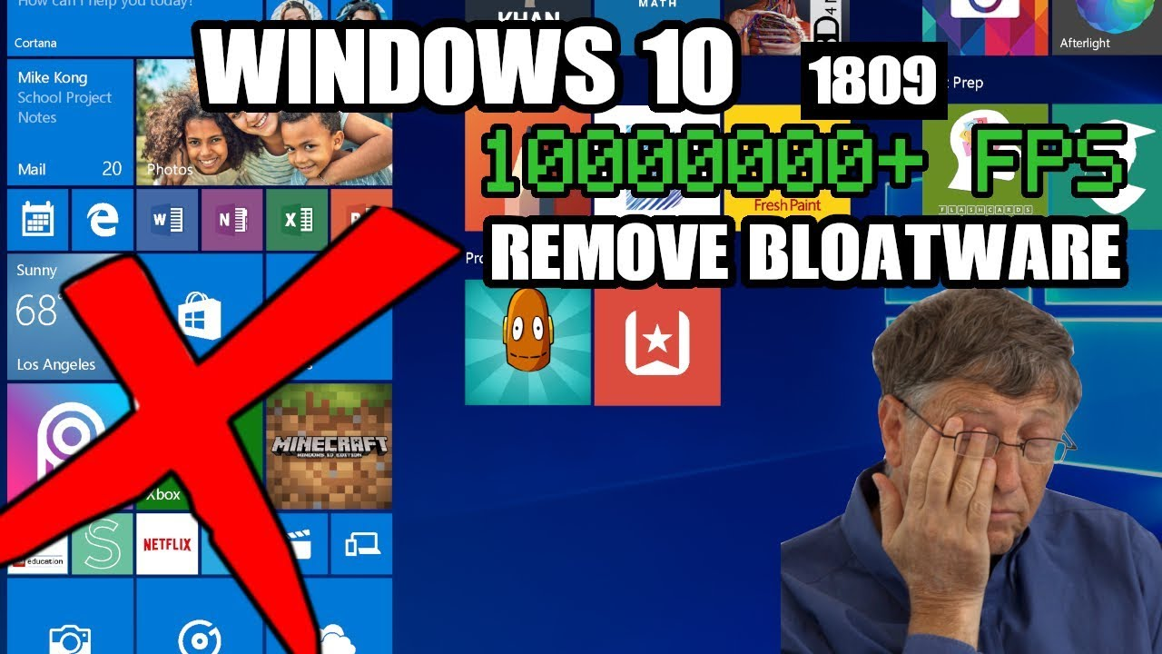 Remove Windows 10 Bloatware 1809 Boost Performance And FPS