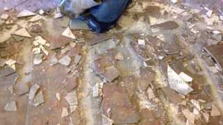 A Dustram® Is Many Times Faster At Tile Removal-demolition Than Flimsy Metal Or Plastic Boots