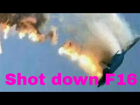Israeli fighter jet shot down by Syria  - real footage