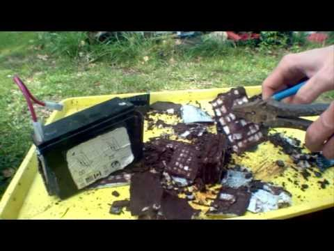 6v SLA Battery Autopsy and Melting the Lead