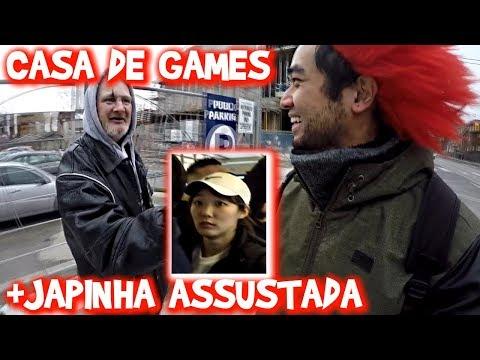 CASA DE JOGOS EM TORONTO e JAPINHA ESPANTADA COM A CABELEIRA