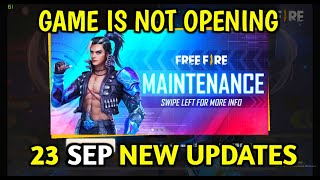 Free Fire 23th September All New Update, Game is Not Opening - Garena Free Fire 2020