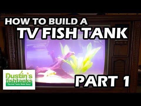 "How To  Build a TV Aquarium Part One  ""Fishtank TV"""