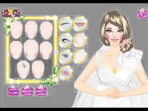 Gorgeous Fashion Bride Dress Up Wedding Games For Girls Bride - Bride-makeup-games